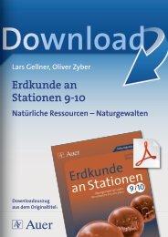 Erdkunde an Stationen 9-10 - Auer Verlag