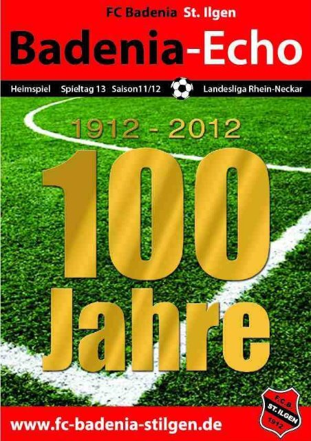 Stadionheft Ausgabe 6 - FC Badenia St. Ilgen