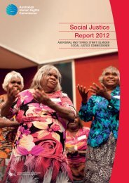 Social Justice Report 2012 - Australian Human Rights Commission