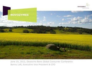 Presentation - Novozymes