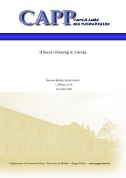 Il Social Housing in Europa - Centro di analisi delle politiche pubbliche