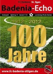 Stadionheft Ausgabe 5 - FC Badenia St. Ilgen