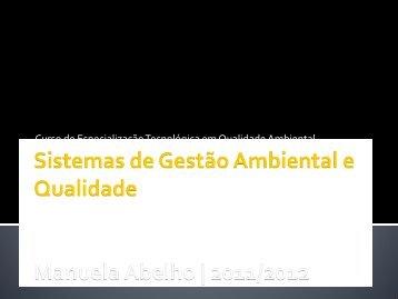 Sistemas de Gestão Ambiental e Qualidade - ESAC