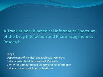 drug-interaction Model frame work for personalized medicine - VW