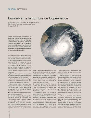 Euskadi ante la cumbre de Copenhague