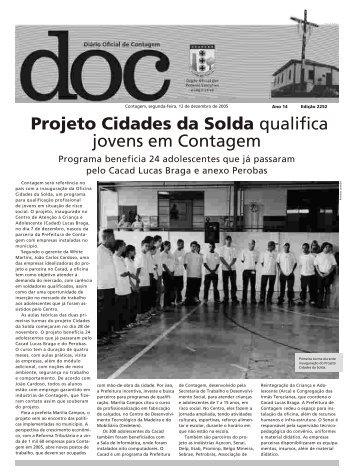 Projeto cidades da solda - Prefeitura de Contagem