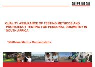 QUALITY ASSURANCE OF TESTING METHODS AND ...