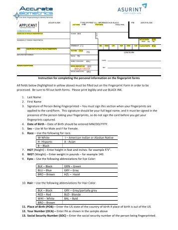 Download Fbi Fd258 Fingerprint Form Accurate Biometrics