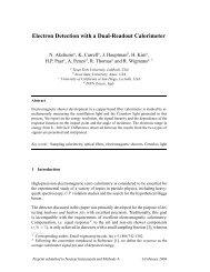 Electron Detection with a Dual-Readout Calorimeter