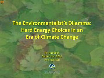 Hard Energy Choices in the Era of Climate Change - New ...