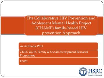 The Collaborative HIV Prevention and Adolescent Mental Health ...