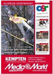 Attraktive Spiele mit Allgäuer Clubs - Allgäu Sport Report