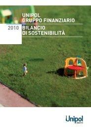 2010 UNIPOL GRUPPO FINANZIARIO BILANCIO DI SOSTENIBILITÀ