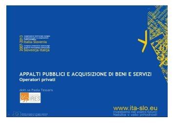 Programma del pomeriggio short - Fondi Europei 2007-2013