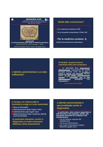 La Comunicazione della dose in Medicina Nucleare - Aifm