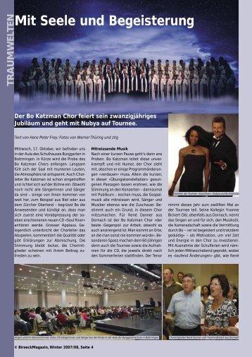 Mit Seele und Begeisterung - Birseck Magazin