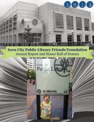 Iowa City Public Library Friends Foundation Annual Report and ...