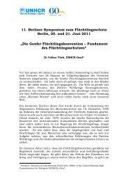 20/06/11 Dr. Volker Türk, UNHCR Genf