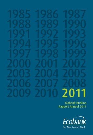 Ecobank Burkina Rapport Annuel 2011