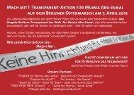 Download des Flyers... - Freiheit für Mumia Abu-Jamal