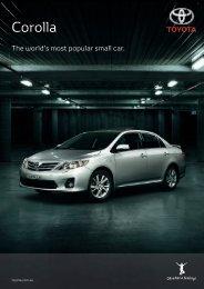 corolla sedan specifications - Toyota