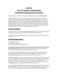 Dear Area 37 (Charles Village West) Residential Parking Permit ...
