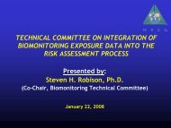 TECHNICAL COMMITTEE ON INTEGRATION OF BIOMONITORING ...