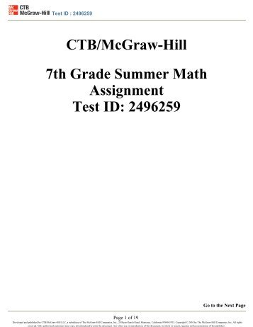 Mcgraw Hill Math 7th Grade - math connects book for 7th