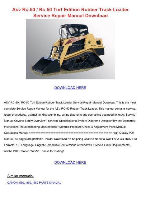 asv rc 50 rc 50 turf edition rubber download pdf files  6503 asv rc 50 wiring diagram wiring