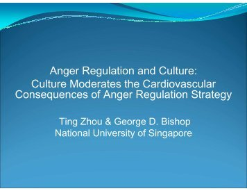 Paper Session 31 - Anger Regulation and Culture