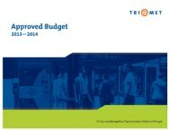 FY14 Approved Budget for TSCC Review PDF - TriMet