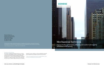 Mechanical Services - Siemens