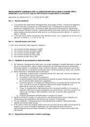 Regolamento comunale per la concessione delle aree a favore ...