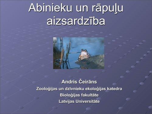 Klimta izmaiņas un potenciālā izplatība - Latvijas Universitāte