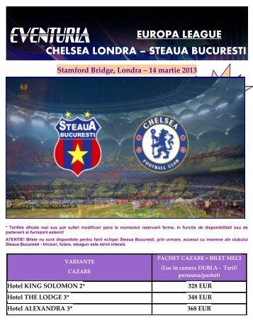 EUROPA LEAGUE CHELSEA LONDRA ... - Activ Tours ERP