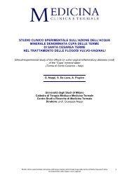 studio clinico sperimentale sull'azione dell'acqua minerale ...