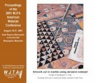 Proceedings of the 2001 WJTA American Waterjet Conference