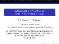 GENERALIZED DYNAMICS OF RARITA–SCHWINGER FIELD