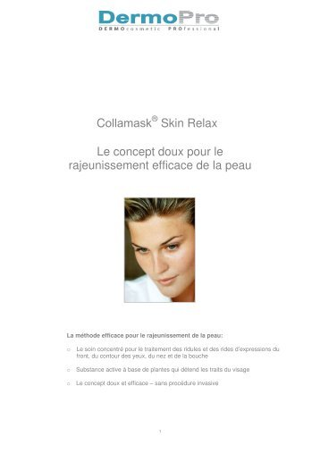 Voir le protocole complet Collamask Skin Relax - Peeling