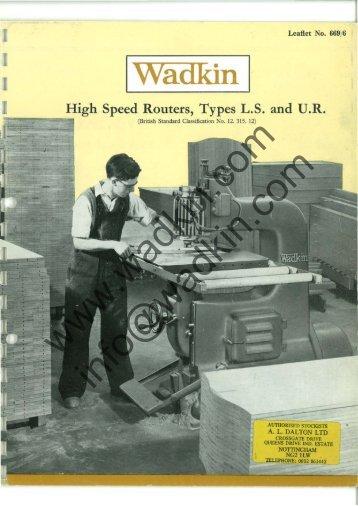 Wadkin LS Router Literature