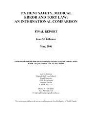 patient safety, medical error and tort law: an ... - York University