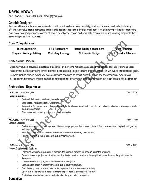 Download The Graphic Design Resume Sample Two In Pdf