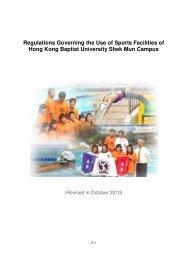 Regulations Governing the Use of Sports Facilities of Hong Kong ...