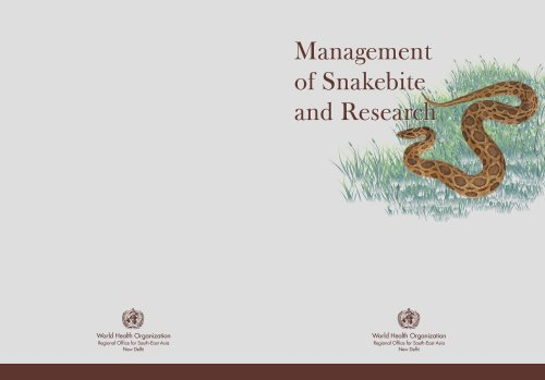 Management Of Snakebite And Research Management Of Snakebite