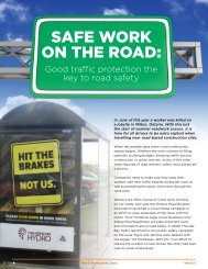 Safe Work on the Road - Infrastructure Health & Safety Association