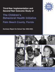 The Children's Behavioral Health Initiative - Chapin Hall at the ...
