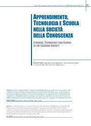 apprendimento, tecnologia e scuola nella società della conoscenza