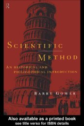 Scientific Method: An historical and philosophical introduction