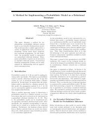 A Method for Implementing a Probabilistic Model as a Relational ...
