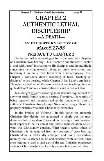 Authentic Lethal Discipleship - Bible Truth Publications.